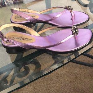 Yves Saint Laurent Lilac Sandals